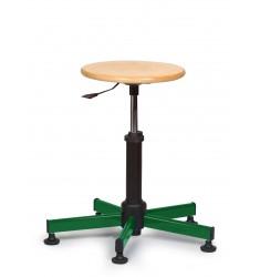 Tabouret blanc roulettes - Pivotable 360- rglable en hauteur