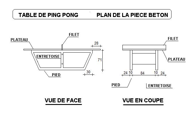 Table de ping pong tout b ton jeux collectivit s table for Table de ping pong exterieur pour collectivite
