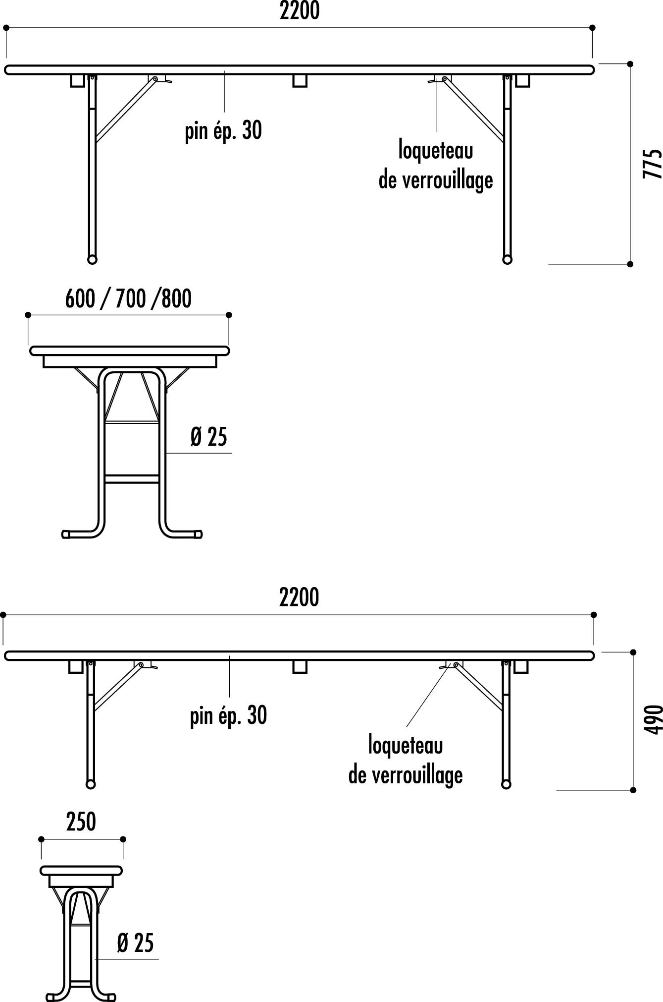 table et banc vienne tables et bancs pliants net collectivit s. Black Bedroom Furniture Sets. Home Design Ideas