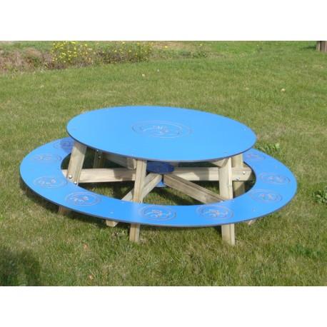 Table Pique Nique Ronde Ludo