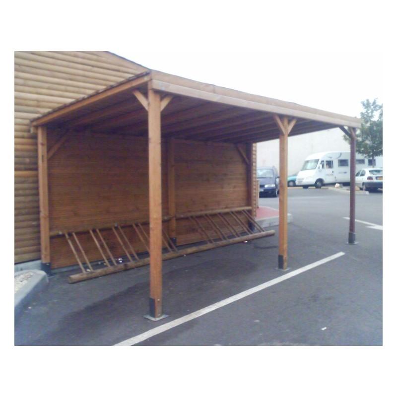 abri range v los en bois abri range v lo avec rack 5 ou 10 places net collectivit s. Black Bedroom Furniture Sets. Home Design Ideas