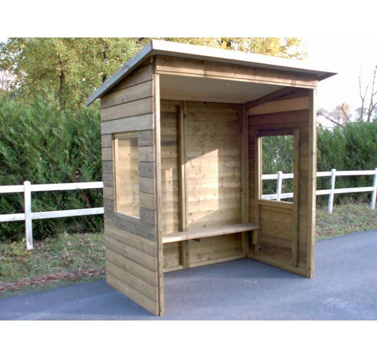 abri bus en bois station de bus am nagement urbain. Black Bedroom Furniture Sets. Home Design Ideas