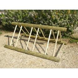 Rack en bois pour vélos