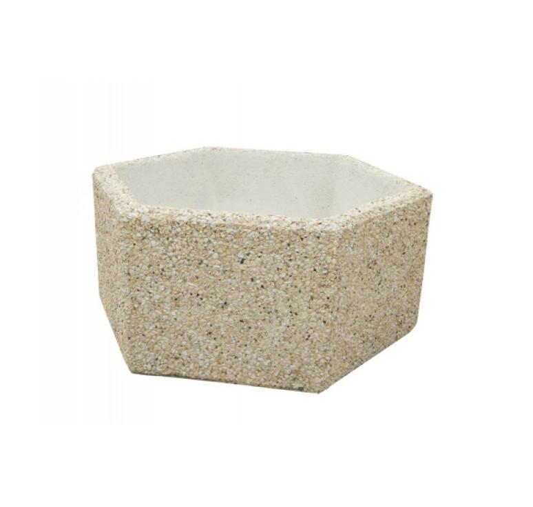 Jardini re en b ton h xagonale - Jardiniere en beton ...