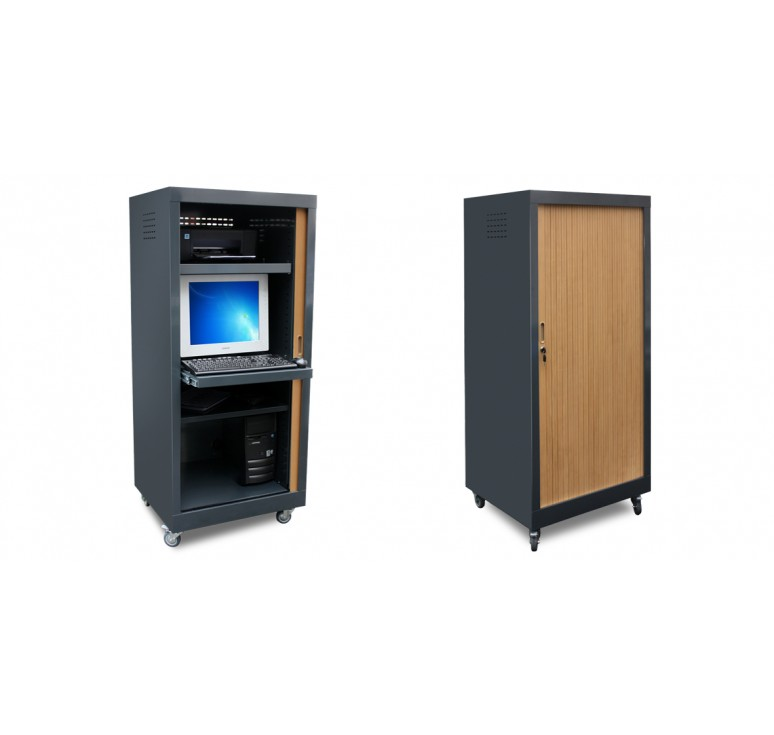 Mobilier scolaire armoire vid o net collectivit s for Mobilier informatique scolaire