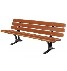 Banc assise et dossier en bois exotique Séville