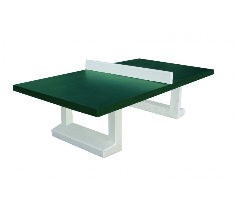 Table de ping pong en dur table de ping pong beton net - Table de ping pong exterieur pour collectivite ...