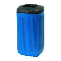 Poubelle en plastique Toscana bleue