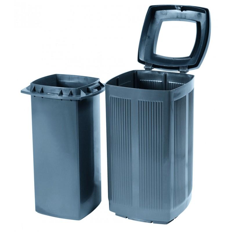 poubelle plastique d 39 ext rieur toscana poubelle plastique d 39 ext rieur recyclable. Black Bedroom Furniture Sets. Home Design Ideas