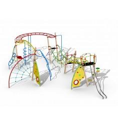 Structure multi-jeux pour aires de jeux