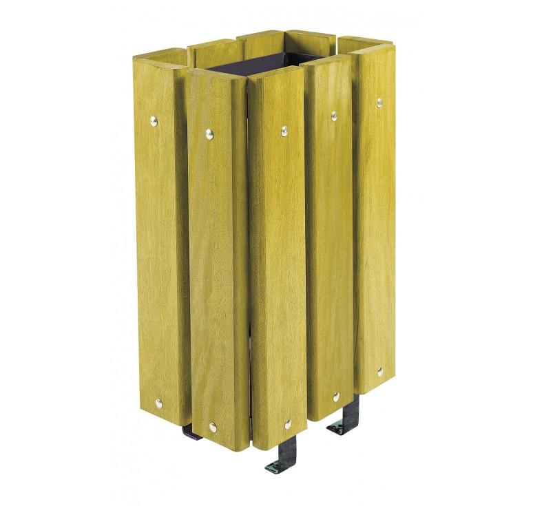 Corbeille en bois breme mobilier urbain poubelle urbaine for Corbeille en bois flotte