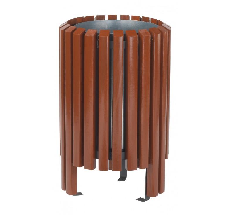 Corbeille en bois salou poubelle d 39 ext rieur en bois for Corbeille en bois flotte