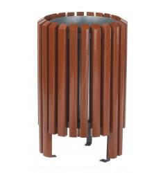 Corbeille ronde en bois exotique Salou