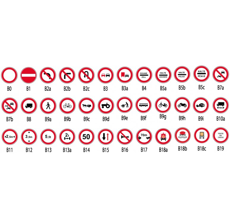 Bien-aimé Panneaux de signalisation - Panneaux signalisation d'interdiction  PX23