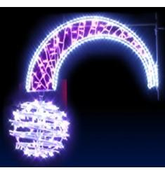 Boule Filante - décor féerique de Noël pour candèlabres