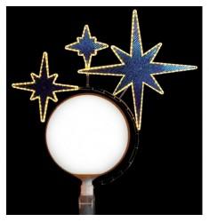 Décor pour lampadaire boule - triple étoiles