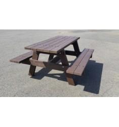 Table Pique Nique Plastique Recyclé Éden long 1.45 m