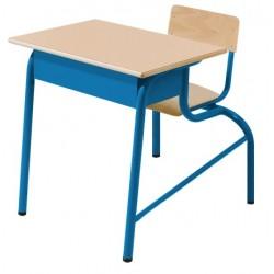 Visuel bureau monobloc - table et chaise scolaire - 1 place - Net Collectivités
