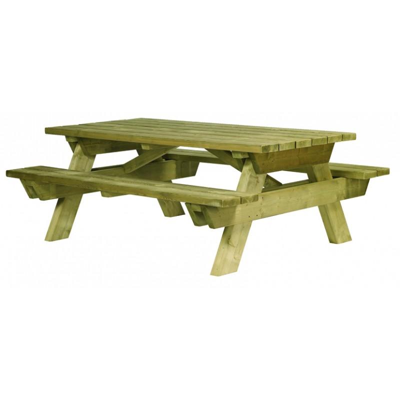table de pique nique en bois autoclave table de pique. Black Bedroom Furniture Sets. Home Design Ideas