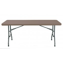 Table en polypro marron