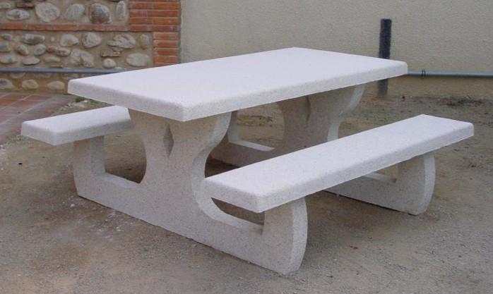 pique Languedoc nique armé NET de béton Table en Collectivités reCdxBoW