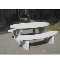 Table de pique nique octogonale Languedoc