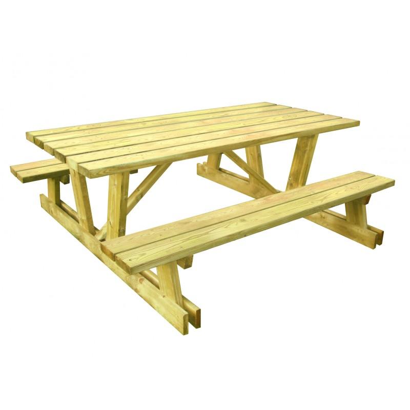 mobilier urbain table de pique nique montagnarde table de pique nique en bois. Black Bedroom Furniture Sets. Home Design Ideas