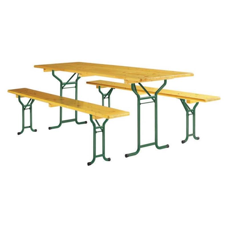 table pliante avec banc en bois table pliante et banc. Black Bedroom Furniture Sets. Home Design Ideas