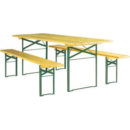 Table et banc pragues tables et bancs pliants net for Table et banc