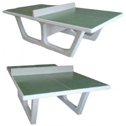 Table de ping-pong en béton RONDO verte