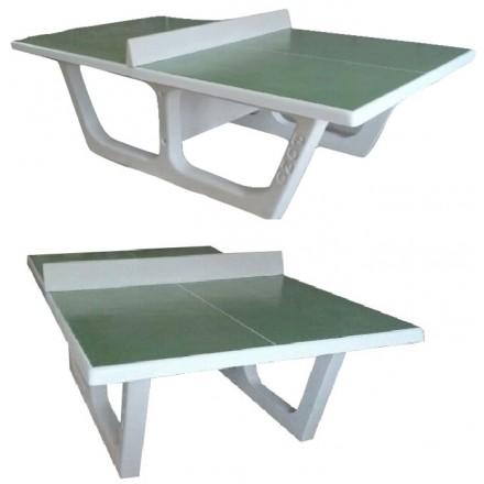 Table de ping-pong en béton RONDO avec plateau rouge