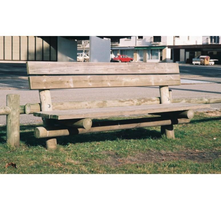 banc public en bois mobilier urbain net collectivit s. Black Bedroom Furniture Sets. Home Design Ideas
