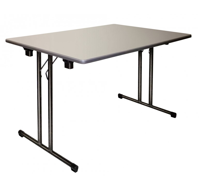 Table de collectivit pliante table pliante en plastique et m tal de collect - Table rectangulaire pliante ...