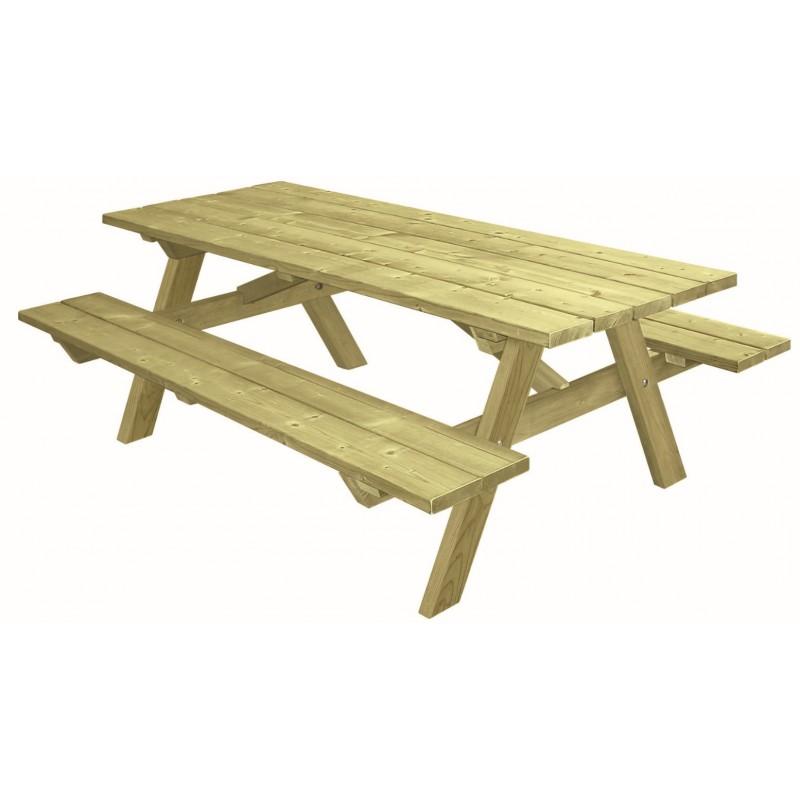 table de pique nique en bois table pour aire de repos. Black Bedroom Furniture Sets. Home Design Ideas
