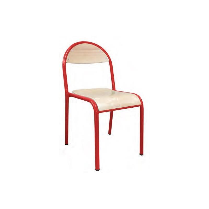 chaise colier lou chaise d 39 cole empilable 4 pieds hauteur fixe mobilier scolaire. Black Bedroom Furniture Sets. Home Design Ideas