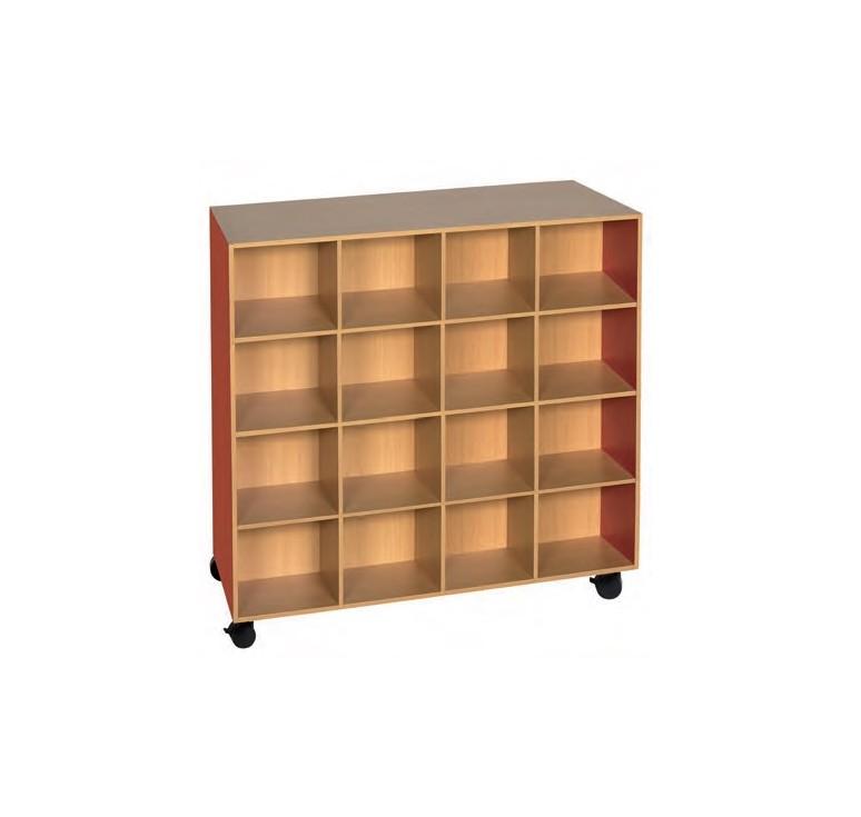 Meuble doudous 32 cases meuble pour maternelle en for Meuble 16 cases
