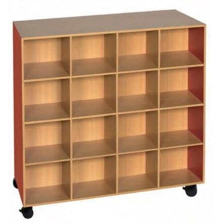 meuble doudous 32 cases meuble pour maternelle en m lamin casier doudou pour petite enfance. Black Bedroom Furniture Sets. Home Design Ideas