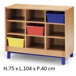 Meuble casier 9 cases mobilier maternelle mobilier for Meuble 9 cases