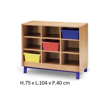 meuble casier 9 cases mobilier maternelle mobilier scolaire netcollectivit s. Black Bedroom Furniture Sets. Home Design Ideas