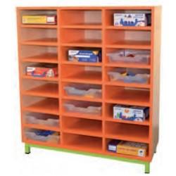Meuble à Casier de rangement maternelle 24 Cases - Net Collectivités