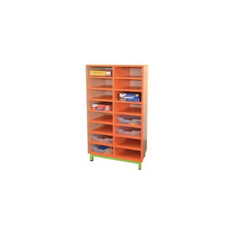 meuble de rangement casiers 16 cases fixes pour classe de maternelle net collectivits