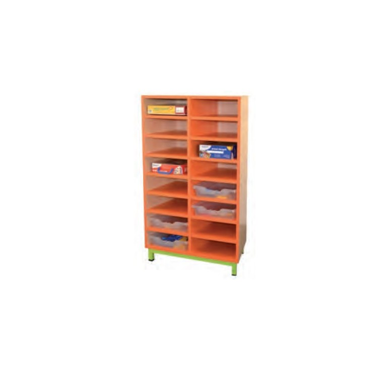 Meuble 16 cases meuble pour maternelle casiers meuble for Meuble casier