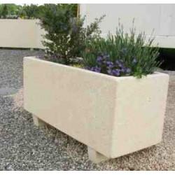 Jardinière rectangulaire en béton Modèle Akhenaton - Netcollectivités