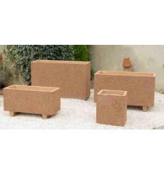 Jardinière rectangulaire en béton Modèle Akhenaton