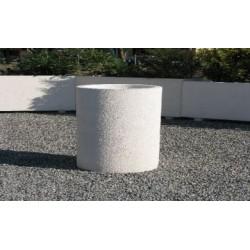 Jardinière Cléopâtre ronde en béton armé - Netcollectivités