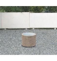 Jardinière Cléopâtre ronde en béton armé