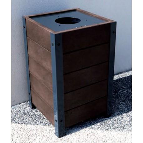 corbeille cubique l gante en plastique recycl mobilier urbain en recycl netcollectivit s. Black Bedroom Furniture Sets. Home Design Ideas