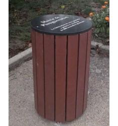 Corbeille extérieure Roussillon en recyclé