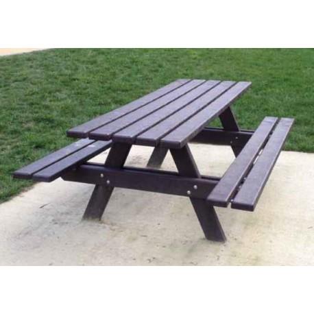 table pique nique tradi table picnic en plastique recycl am nagement urbain. Black Bedroom Furniture Sets. Home Design Ideas