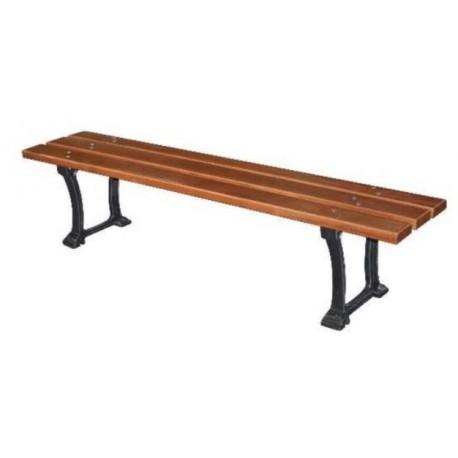 Banquette assise en bois exotique Pampelune - Net collectivités
